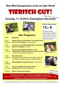 Flyer Minisymposium Tierisch gut 2015